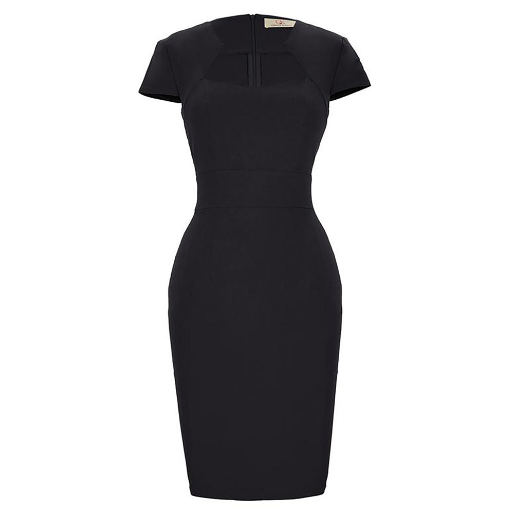 Women's Vintage Pencil Dress - Stretchy, Hips-Wrapped, Bodycon