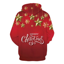 Load image into Gallery viewer, Christmas Atmosphere Star Round Neck Drawstring Sweater