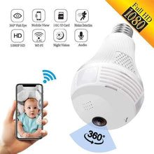 Load image into Gallery viewer, 360 Degree Panoramic 1080P Full HD Bulb Camera