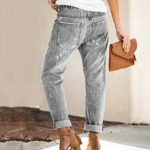 Load image into Gallery viewer, Women's Sexy Slim Mid Waist Denim Pants Trousers Ripped Jeans Plus Size