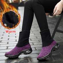 Load image into Gallery viewer, Winter fashion air cushion women's shoes warm snow boots