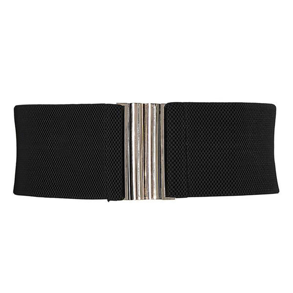 Wide Stretchy Elastic Metal Hook Waist Belt Waistband