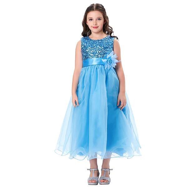 Cute Sleeveless Flower Girl Dress With Satin Waistband