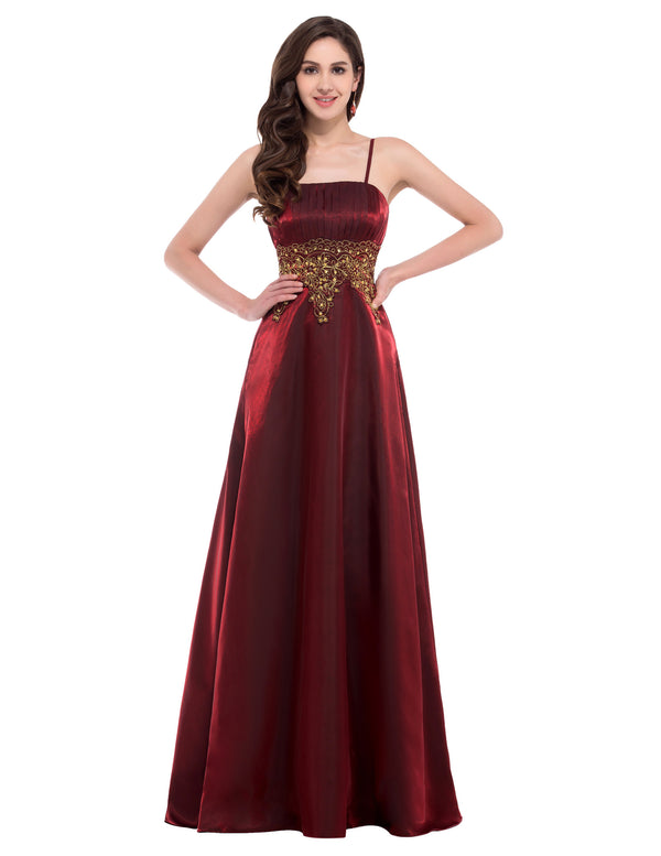Ball Gown Evening Prom Party Dress - Spaghetti straps