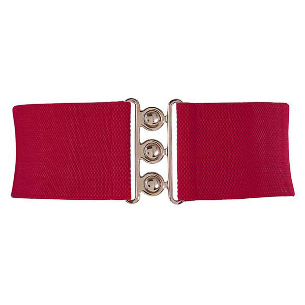 Women's Stretchy Belt with Silver Hook Buckle