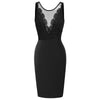 GK Women Sleeveless Hips-Wrapped Bodycon Pencil Dress