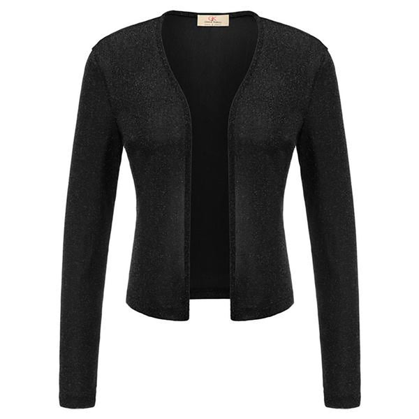 Women's Long Sleeve Open Front Stretchy Shrug Bolero