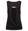 GK Sexy Women's Comfy Sleeveless Hollowed Back Rayon Yoga Tank Top