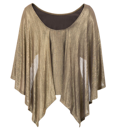 Women's Backless Clubwear Irregular Drape Decorated Cape Tops