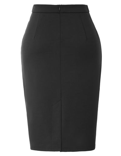 GK Women's High Waist Back Split Bodycon Pencil Skirt