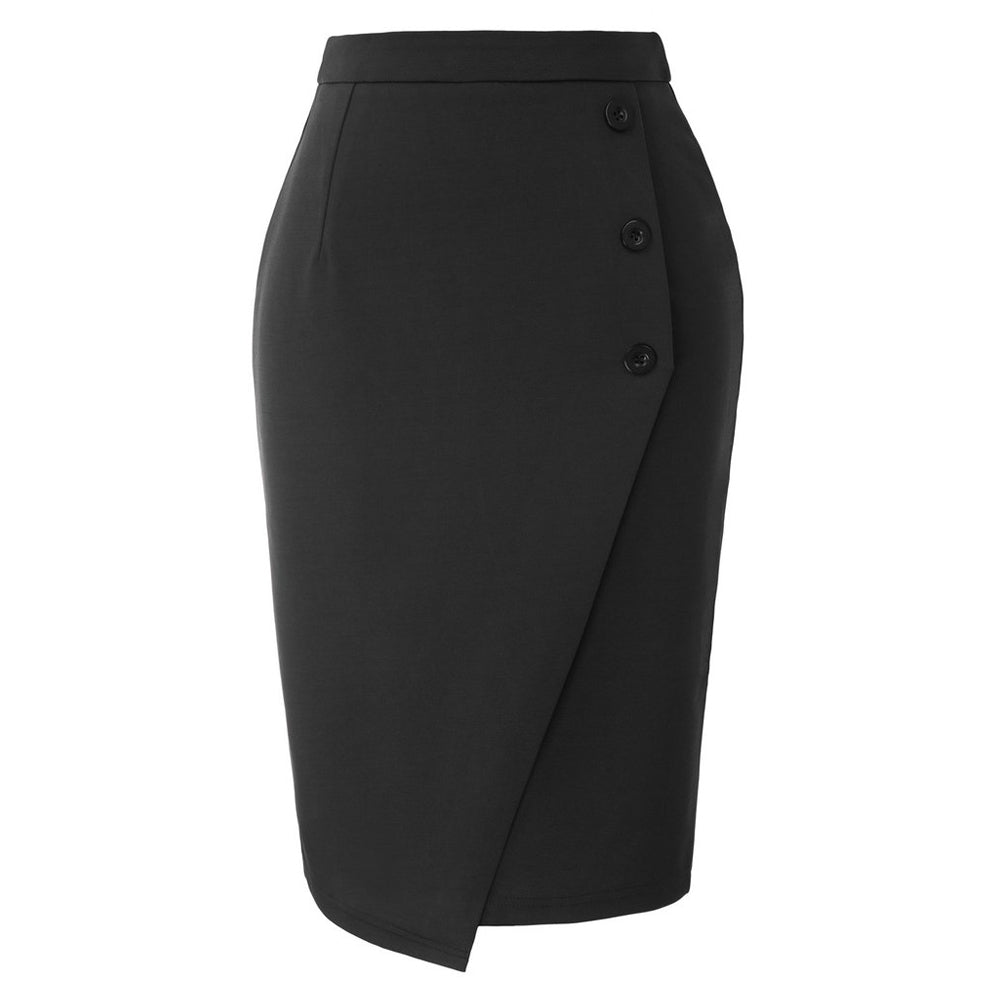 GK Women's Pencil Skirt High Waist Back Split Bodycon