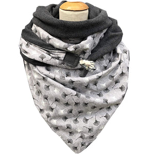 Casual dandelion print palm button scarf