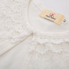 Children Kids Girls Long Sleeve Lace & Cotton One-Button Bolero Shrug