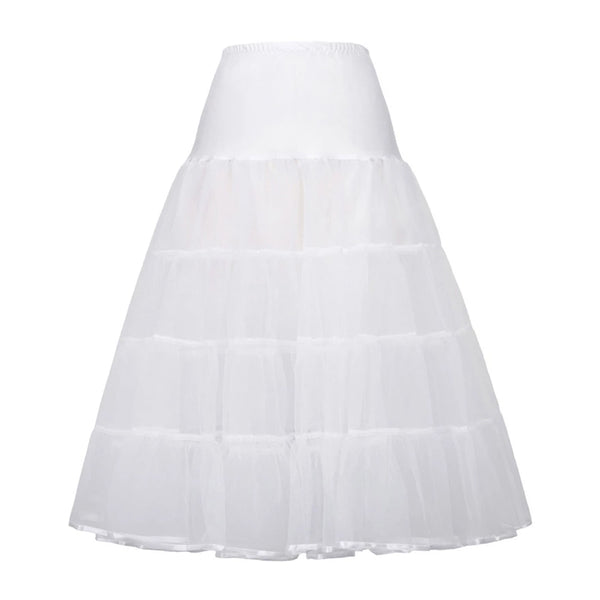Black and White 2-Layers Voile Crinoline Underskirt Petticoat - PRESALE