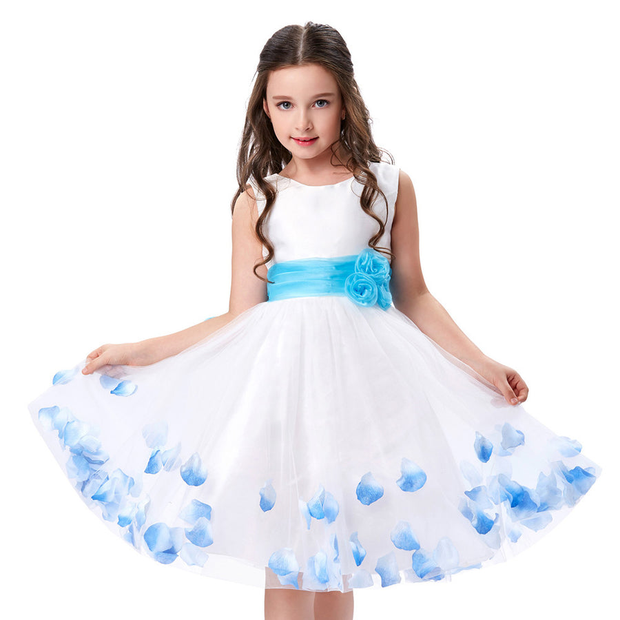 Grace karin flower kids girls dresses with different colors and styles beautiful white sleeveless round neck long flower girls dress izmirmasajfo