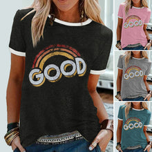 Load image into Gallery viewer, Good Print Rainbow O-Neck T-Shirts