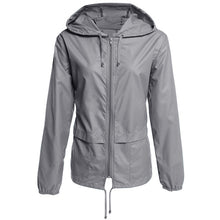 Load image into Gallery viewer, Women's Casual Outdoor Hiking Hooded Jacket Coat Waterproof Raincoat Plus Size