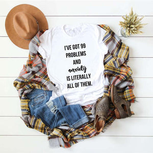 Women's Casual Letter Print Tops Round Neck Short Sleeve T-Shirt Pullover Blouse