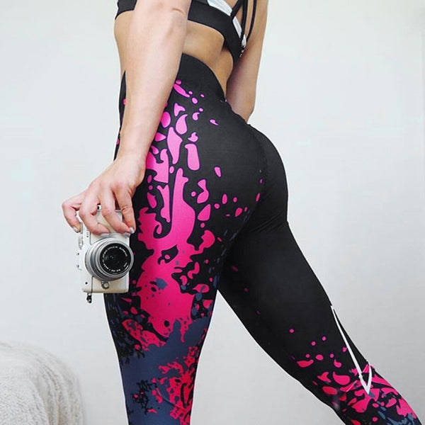 Women Casual Stretchy High Waist Exercise Sport Jogging Gym Yoga Pants Leggings
