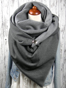 Casual solid color high neck scarf