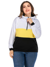 Load image into Gallery viewer, Women's Casual Loose Hooded Tops Zipper Long Sleeve Pocket Hoodie Plus Size