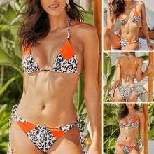Load image into Gallery viewer, Women's Slim High Waist Bikini Split Leopard Camisole