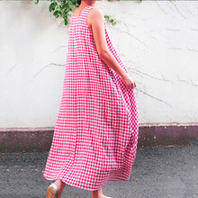 Load image into Gallery viewer, Women's Sleeveless Casual Loose Round Neck Striped Plus Size Maternity Dress