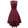 Women's Sleeveless High-Low Cocktail Party Dress