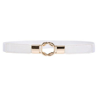 WomenMetal Buckle Stretchy Elastic Waist Belt Waistband