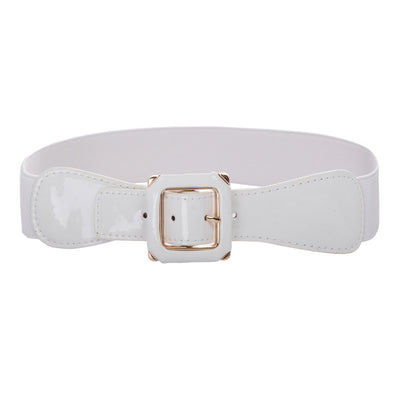 GK Women Ladies Polyurethane Leather Stretchy Elastic Waist Belt Waistband