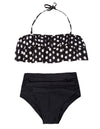 Summer Two Layers Flounce Halter Women's 2pcs Set Swimwear