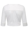 GK Retro Vintage 1/2 Sleeve Deep V-Neck Cotton Shrug Bolero