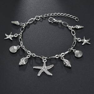 Fashion Vintage Starfish Shell Anklet