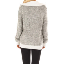 Load image into Gallery viewer, Long-sleeved Plush Stitched Turtleneck Top In Autumn And Spring