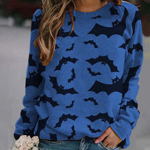 Load image into Gallery viewer, Ladies bat print sweatshirt