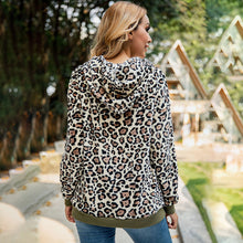 Load image into Gallery viewer, Women Sexy Leopard Print Warm Pocket Hoodie Fluffy Long Sleeve Hooded Coat
