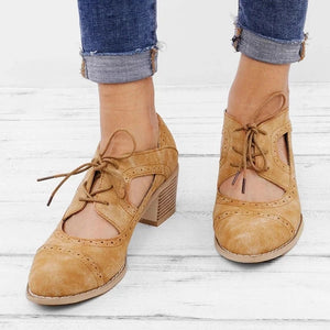 Summer Vintage London Brogue Women Shoes