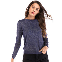Load image into Gallery viewer, Women's Casual Loose Round Neck Tops Knitwear Pullover Long Sleeve Solid Color