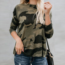 Load image into Gallery viewer, Simply Southern Round Neck Camo Fashion Long Sleeve T-Shirt