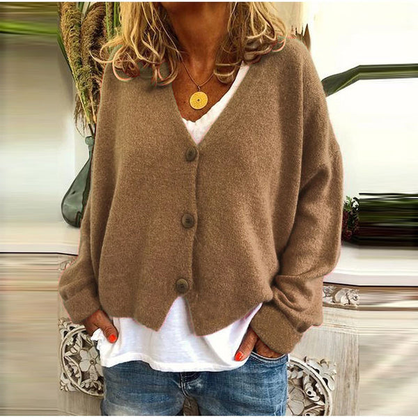 Casual Solid Long Sleeves Buttons Cardigan - PRESALE