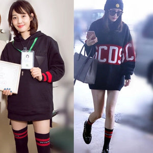Street Fashion Casual Long Socks + Short Socks (2 Pair)