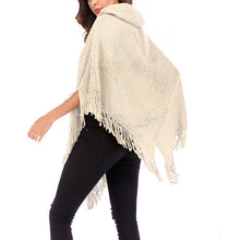 Load image into Gallery viewer, Women's Retro Tassel Batwing Sleeve Shawl Cloak Cape Knitted Tops Plus Size