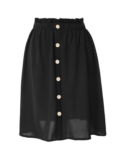 Women's Buttons Decorated A-Line Skirt