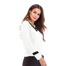 Load image into Gallery viewer, Women's Casual Loose V-Neck Tops Long Sleeve Sweater Jumper Warm Knitwear