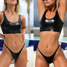 Load image into Gallery viewer, 2pcs/Set Women's Sexy Shiny Separated Swimsuit Beach Holiday Bikini Swimwear