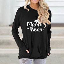 Load image into Gallery viewer, Letter Print Loose Round Neck Long Sleeve Sweatshirt
