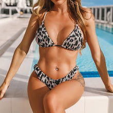 Load image into Gallery viewer, Two-Piece Bikini With Leopard Print