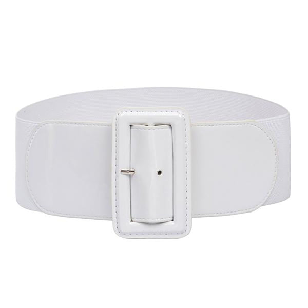Stretchy Elastic Women's Belt - Buckle High