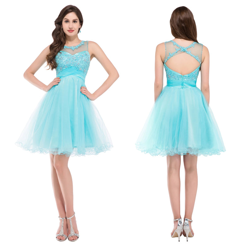 GK mangas Backless Tulle Ball Cocktail Evening Prom Vestido De Festa