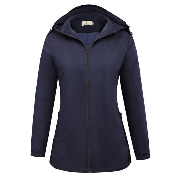 Women's Comfortable Lightweight Windproof Hooded Coat